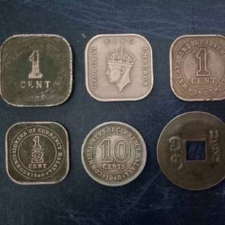 Rare old coins
