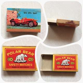 Vintage Old Early 1980s Matchbox showing a 1912 SPA Sport Car