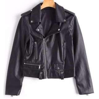 ZAFUL - Faux Leather Biker Jacket