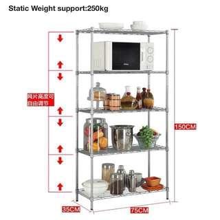 Kitchen shelves & racks