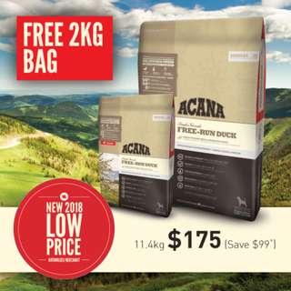 ACANA FREE-RUN DUCK 13.4kg (11.4kg + 2kg)