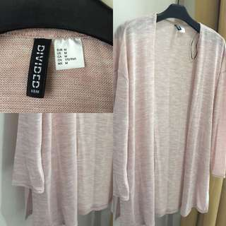 H&M Cardigan Broken Pink