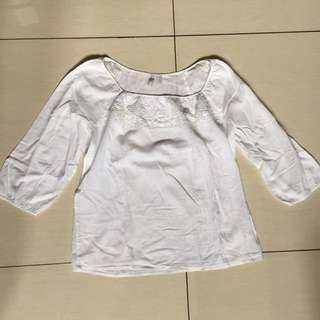 Old navy white babydoll blouse
