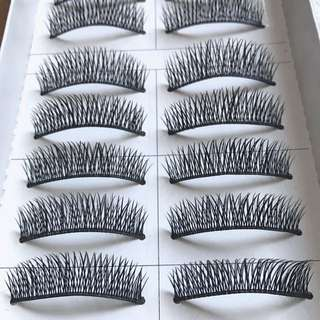 10 pairs False eyelashes black - natural but with some volume and length