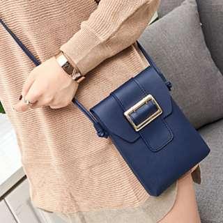 Korean Mini Sling Leather Long Bag