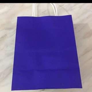 Paper bag- navy blue