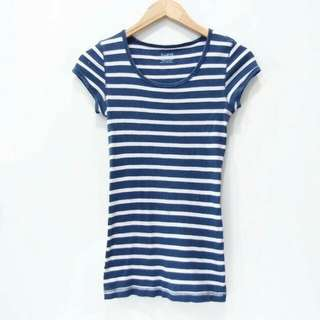 T Shirt Teenage Kids Salur Navy - Kaos Lengan Pendek