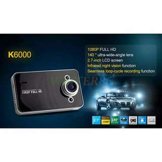 K6000 Driving Recorder - Angle Night Vision Car Recorder/K6000 行车记录器