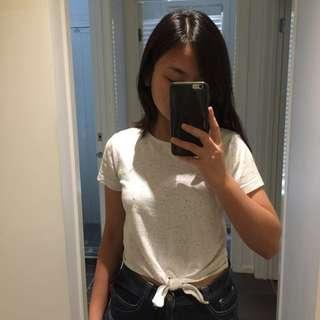 Kookai white tie crop top size 1