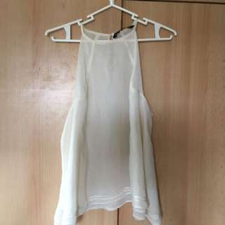 Zara Off White Etherial Blouse