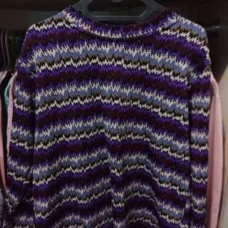 Atasan purplee zigzag