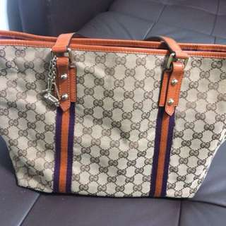 Gucci luxury tote bag