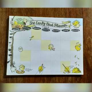 Undated Calendar Weekly/Monthly planner