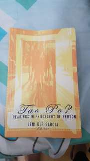 Tao Po? Readings in Philosophy of Person (Leni DLR Garcia