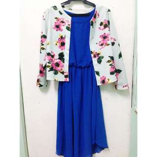 Floral Blazer and Dress Set