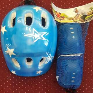 Kids knee and elbow pads with helmet