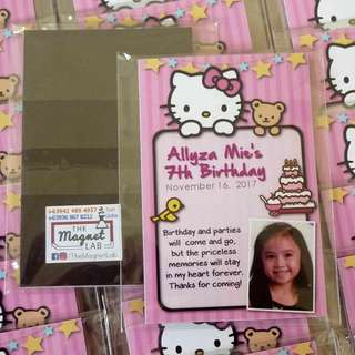 Hello Kitty Ref Magnet Souvenir (Custom Birthday Giveaways)