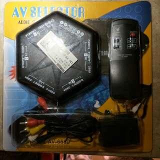 4進1出AV端子轉換器(含遙控器)