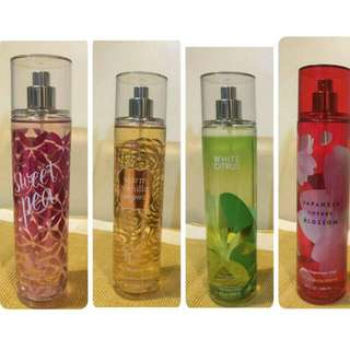Bath And Body Fragnance Mist Collection
