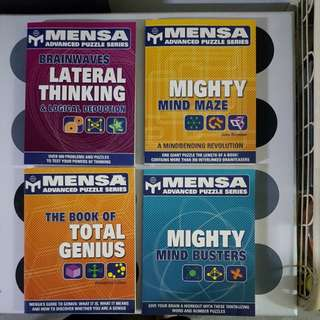 Mensa  Advanced Puzzle Series (4books)