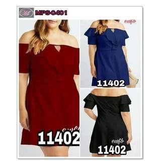 CODE: MPS-0401 Plus Size Off Shoulder Dress #11402 (Diamond)