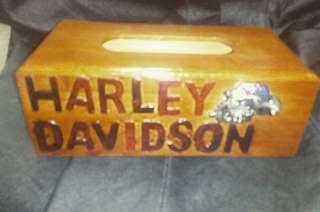 Kotak tisu Harley Davidson meterial dari kayu ..rm65..
