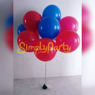 RED AND BLACK MATTE HELIUM BALLOONS