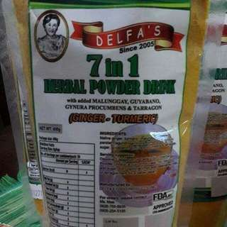 Delfa's 7in1 herbal drinks.
