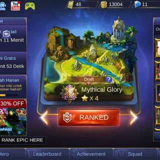 Mobile legend Android tier mythical glory