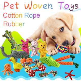 Dog Biting Toy - Cotton rope Woven toys Set