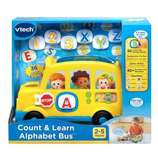 BNIB VTech Count and Learn Alphabet Bus