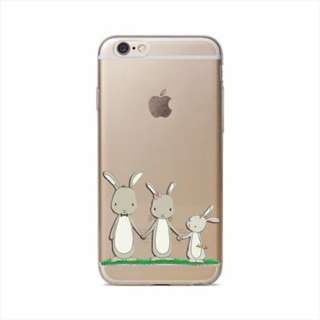 Thin Clear Soft TPU Rubber Case Cover iphone 8 8 plus bunny 2