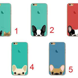 Hard PC Cartoon dog anjing Cover Case Apple Iphone 6 6s plus