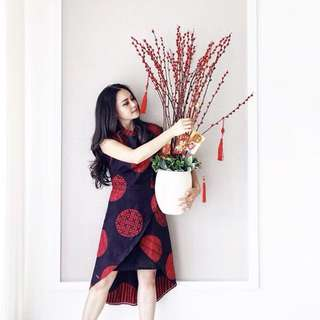 Cheongsam Red Dress