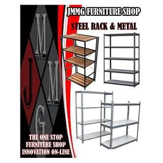 METAL RACK ( adjustable shelves ) Factory Price *