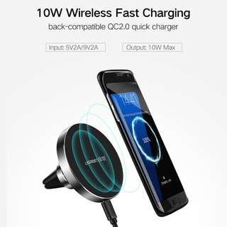 Ugreen 10W Qi Wireless Charger for Samsung Fast Wireless Charging Magnetic Car Air Mount Holder