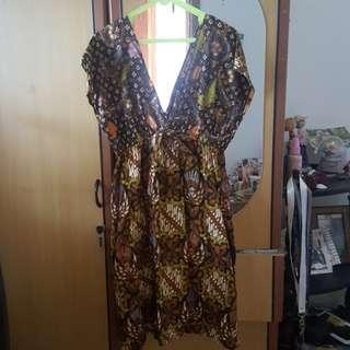 Dress batik solo 2 pattern