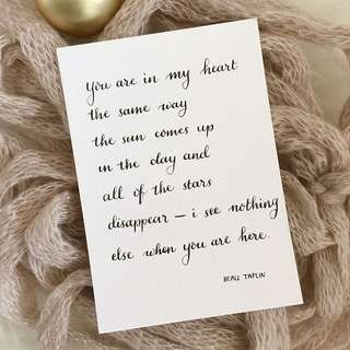 Calligraphy Cards #5