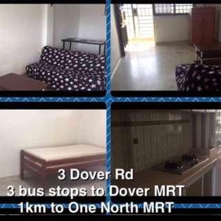 Common Room for Rent for 2person Near Dover,One North,Buona Vista