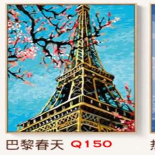 (New stocks) DIY oil canvas paint by numbers 40x50