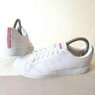 Adidas neo advantage clean white stripe red