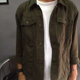 Canvas jacket jaket canvas olive green