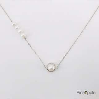 清新系圓形珍珠頸鏈(2種戴法)