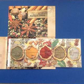Malaysia 2001 Spices Booklet 10v SG#SB27 CV £8