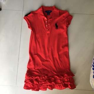 Authentic Polo Ralph red dress (size 6)