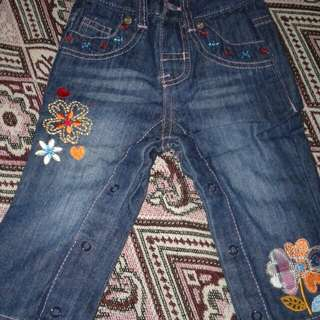 Flowers jeans