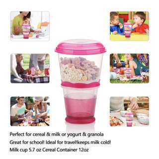 ereal On the Go Cups Breakfast Drink Cups Portable Yogurt and Cereal To-Go Container Cup