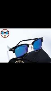 ray ban clubmaster rb3016 49mm 51mm size rayban brand new full packages original