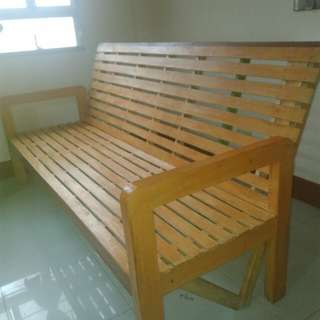Sofa bed (wooden)