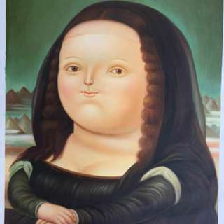 Fat Mona Lisa oil painting